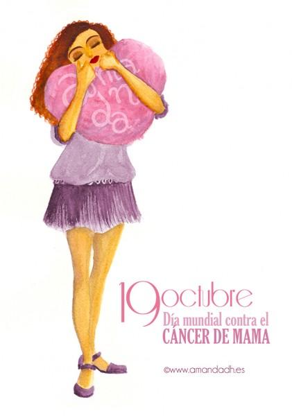 Amanda apoya incondiconalmente a las que luchan contra el cancer mama