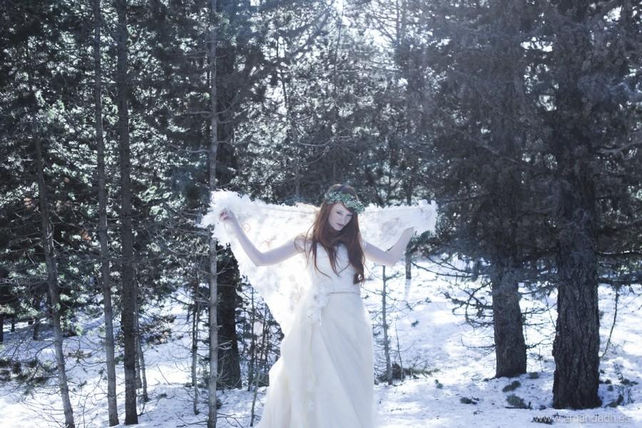 novia en la nieve