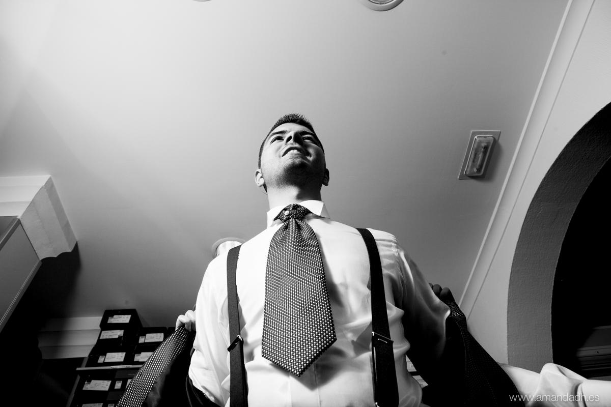 novio corbata