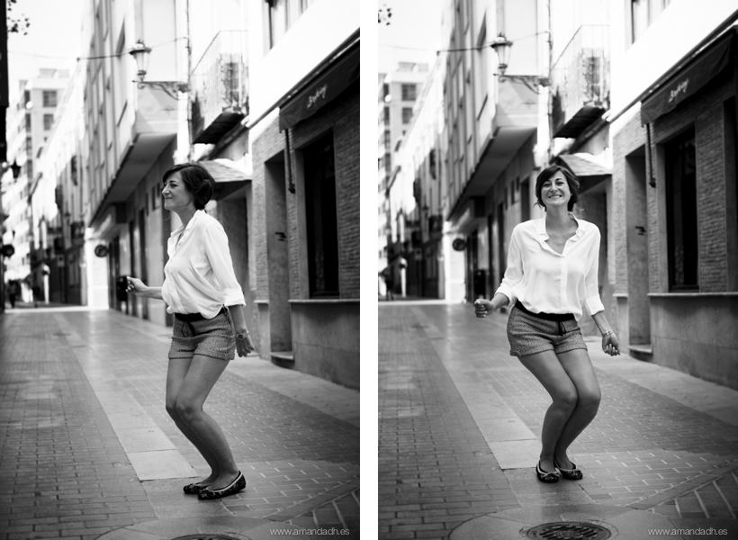 novia en la calle