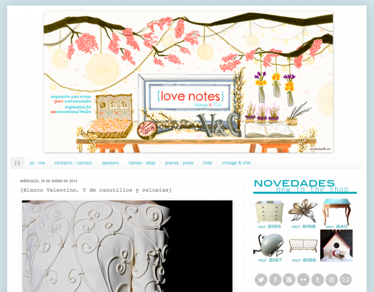Mesa cabecera love notes