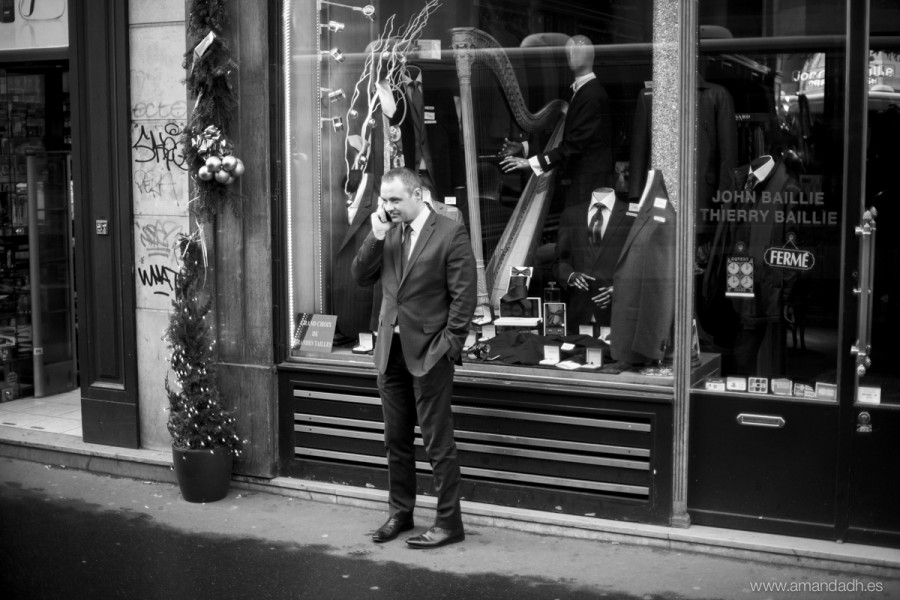 man and store