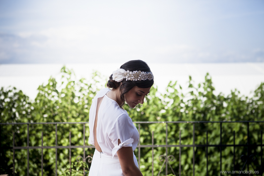 novia en terraza