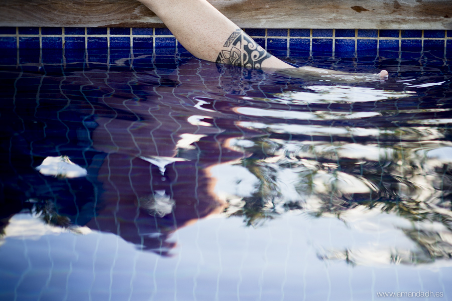 tatuaje en piscina