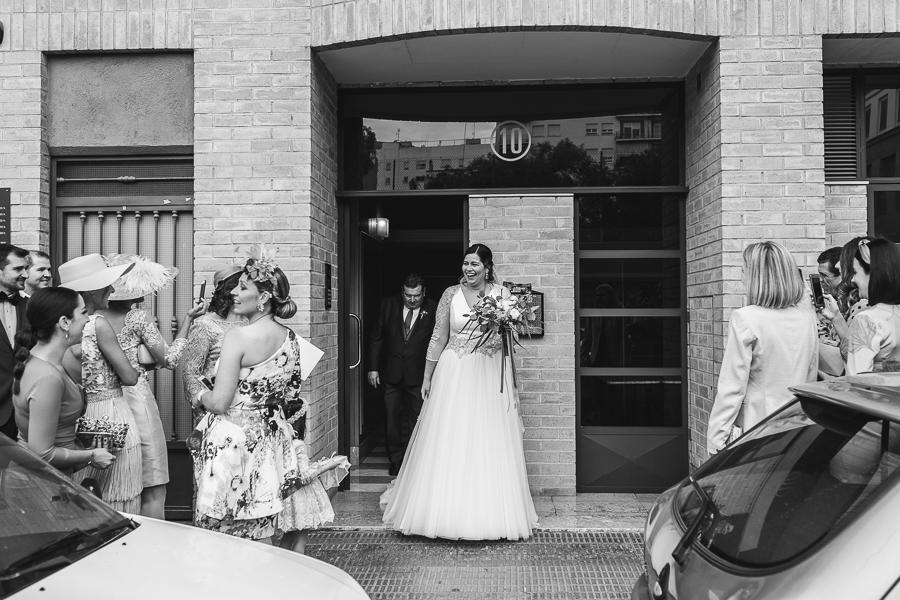 salida novia de casa