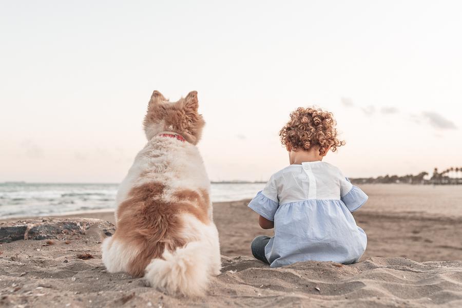 reportaje familia con perro